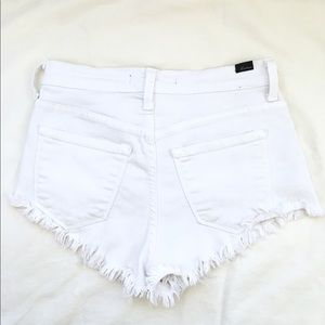 KANCAN White Distressed Short Shorts Size Small